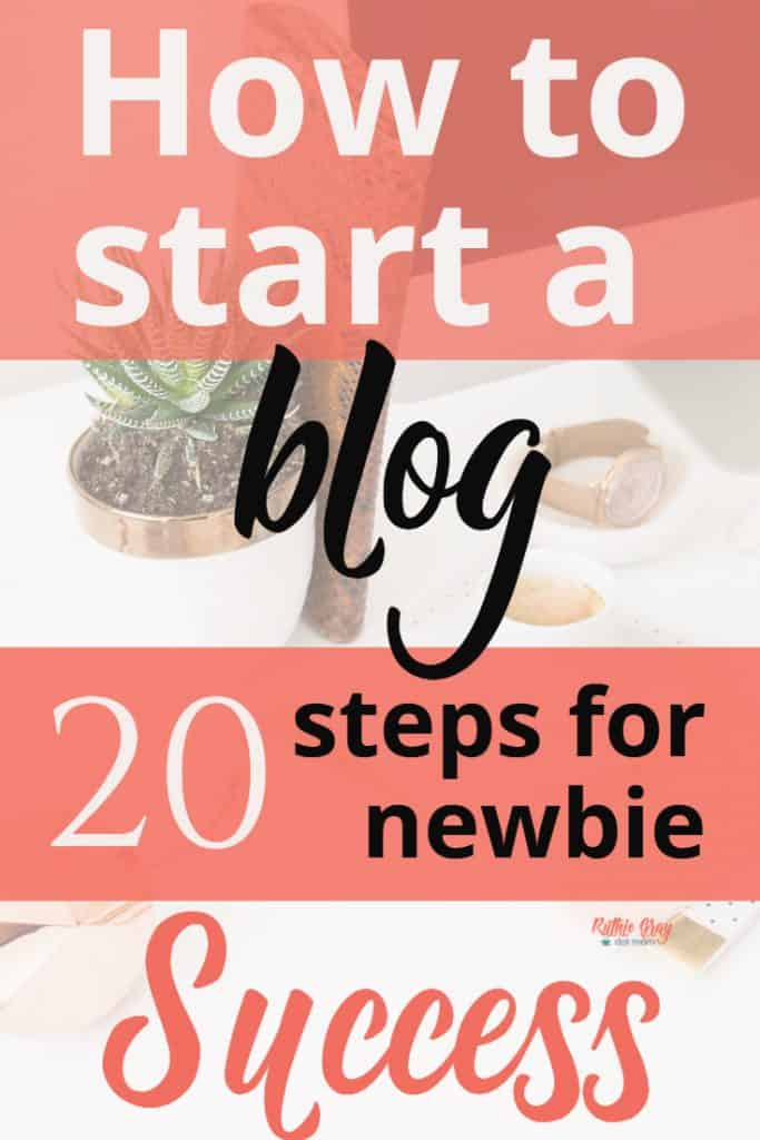 How to start a blog; 20 practical steps for newbie success. How I found my audience, created products, and learned the tricks of the trade! Learn how to start, where to start, and how to find your blog focus. #startablog #bloggingstartup #blogger #blogging