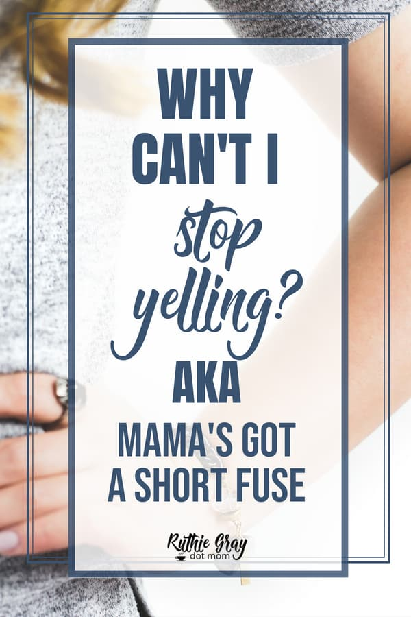 Why can't I stop yelling? Tired of feeling guilty about your temper? Learn how to overcome anger and mommy temper with God's power. It works!
