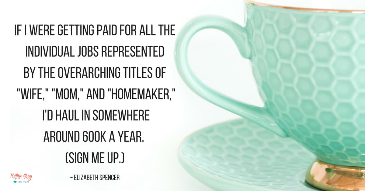 "I'm a wife, mom, and homemaker, but there's not ""just "" about it. Are you ever ashamed to say you're a housewife? Here's why you can be proud of your title!"