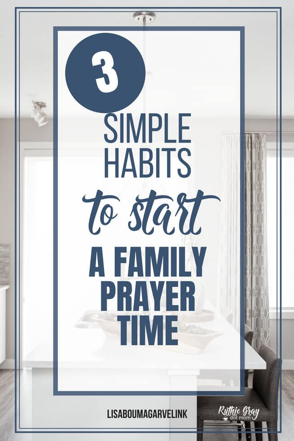 Make family prayer central in 3 practical and simple ways. Do you find it hard to fit in prayer time with your kids? Teaching children to pray isn't hard!