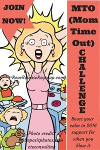 """Join the MTO challenge and boost your calm in 2016! A closed Facebook group for moms to interact and share encouragement for those """"real"""" moments"""