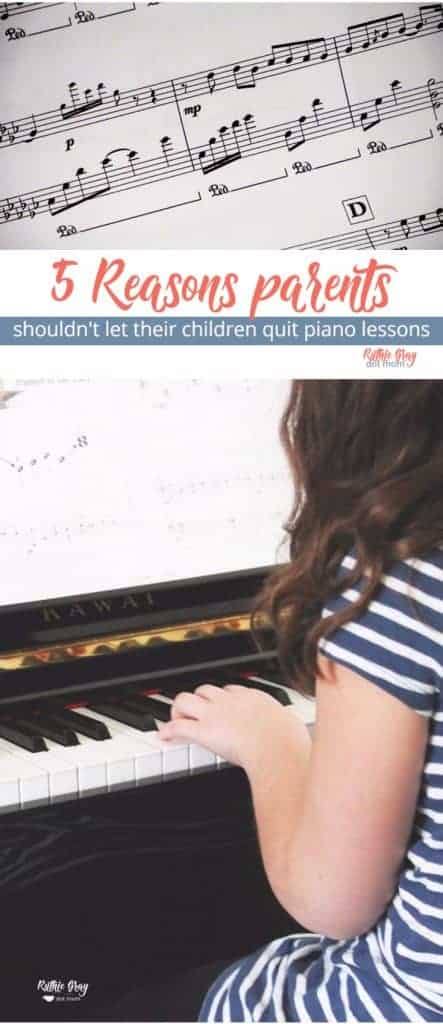 5 reasons why you shouldn't let your child quit piano lessons. Ideas to get kids to stick with keyboard practice from a piano teacher/mom. #pianolessons