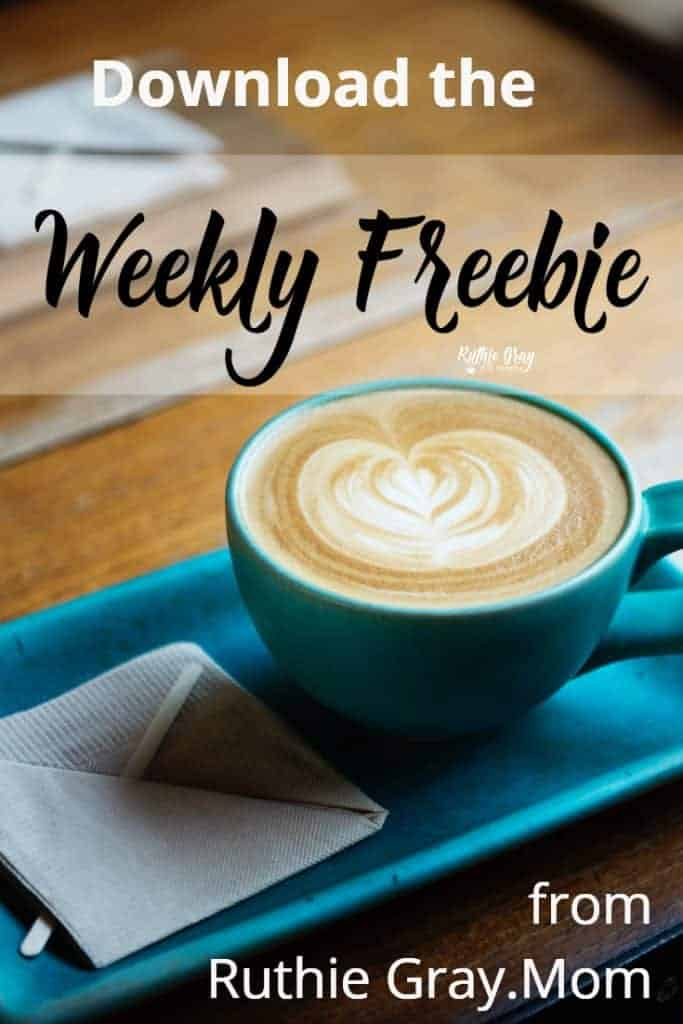 Download the weekly freebie from Ruthie Gray.Mom and receive parenting, prayer, and mind-decluttering tips in your email each week!