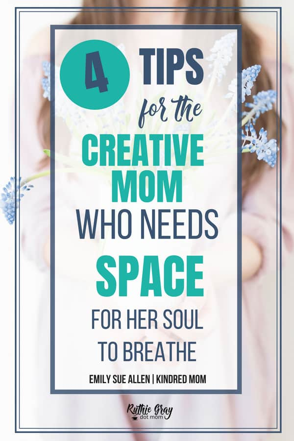 Dear creative mom, you can find time for your passion! Your soul needs room to breathe and carry out your vision. 4 key tips from a mom of 6 that will help!
