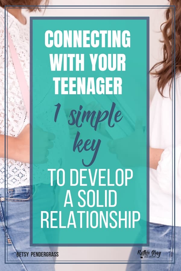 The simple key to connecting with your teenager; develop solid relationships and actually enjoy the teen stage with this timely advice from a mom of teens.