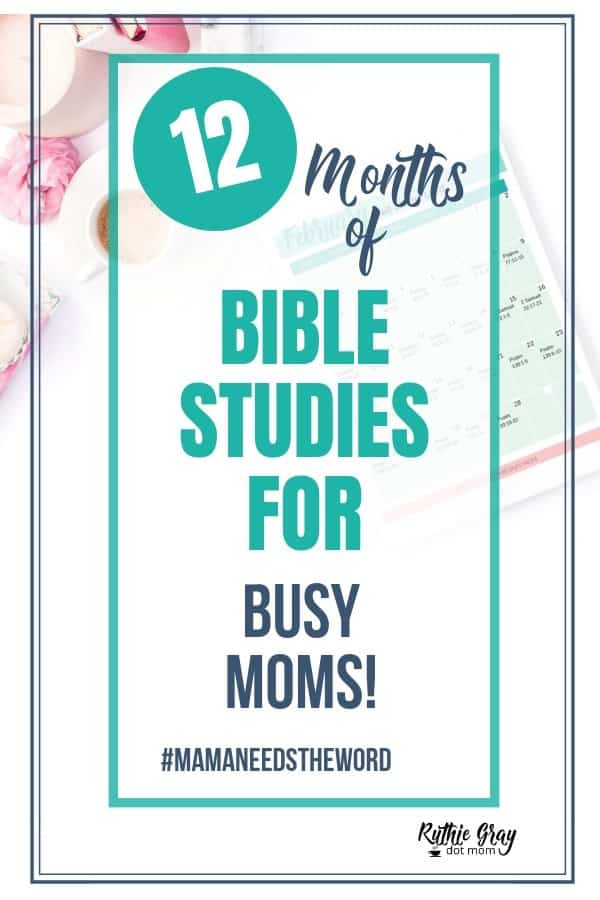 12 Fantastic Bible study systems for busy moms - the mama needs the Word 12-month Bible study challenge will help you find a system for your season!