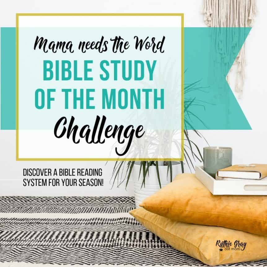 Bible study of the month challenge