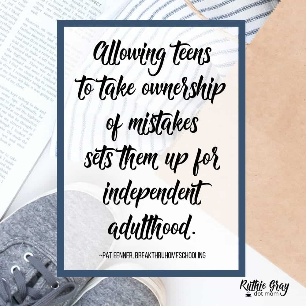 An awesome truth for parents of teens: allow them to own their mistakes