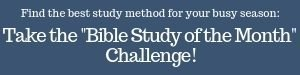 Find a Bible Study format for YOUR busy life with the Bible Study of the Month Challenge!