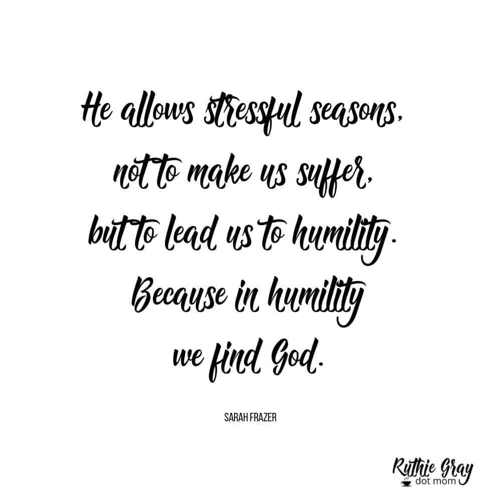 From stress to humility