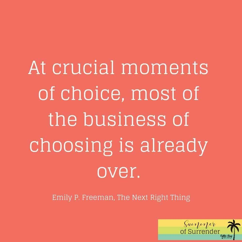 You and I have choices to make. Which path will I choose? What if I make the wrong decision? A prayer for the indecisive mom seeking decision help.