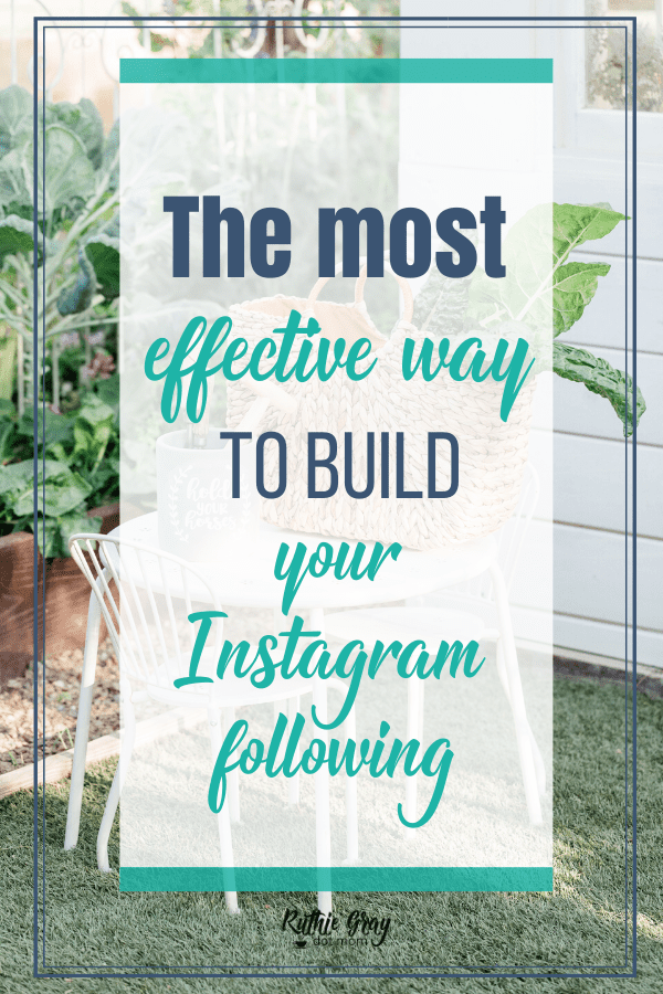 The most effective way to build your Instagram following; why slow growth is good (and necessary), and why TRUE followers with less numbers is better.