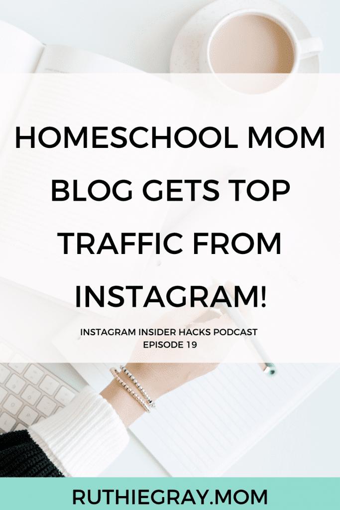 Homeschool mom gets top blog traffic from Instagram!