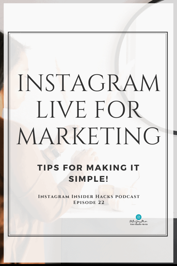 Instagram live for marketing with Wren Robbins