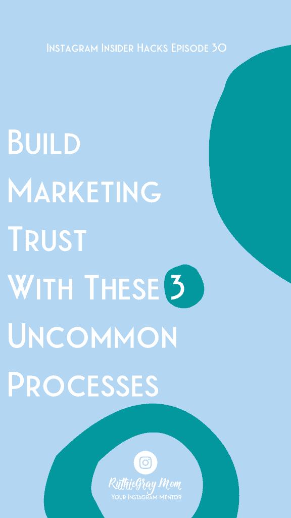 build marketing trust on instagram