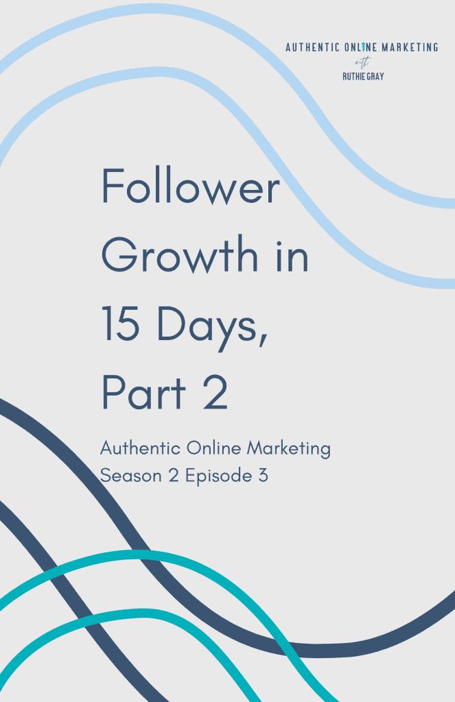 follower growth in 15 days pin