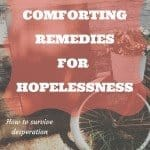 Four comforting remedies for your hopelessness