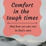 How God offers comfort in the tough times