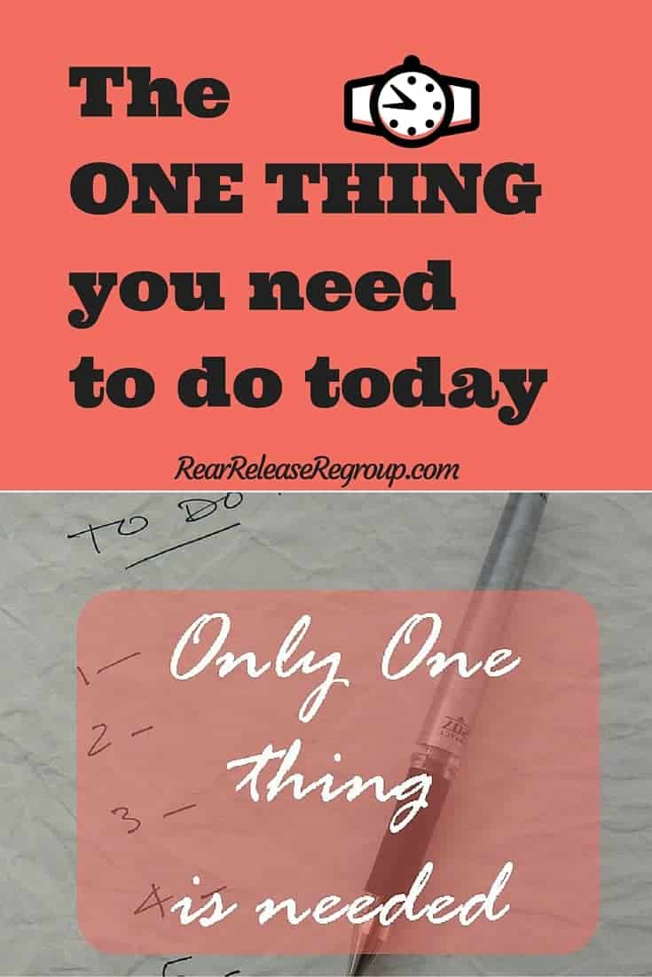 The one thing you need to do today