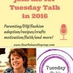 Why you should join me for Tuesday Talk