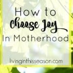 Choosing joy in every season