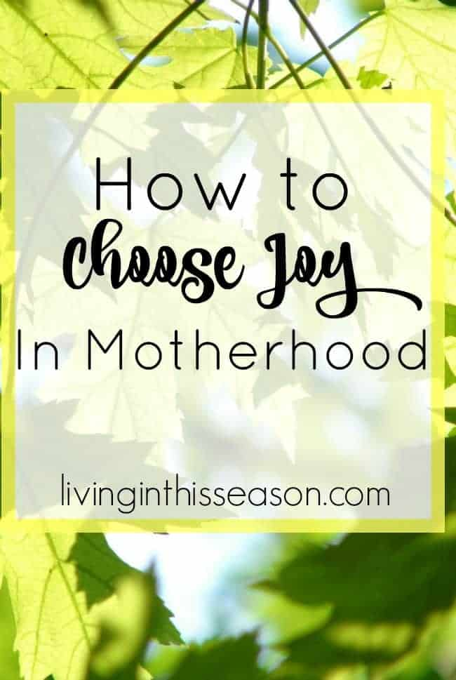 Choosing joy in every season; Advice from a young author and mom of 3 on how to choose joy, even in the hard moments. Because God desires more for us!